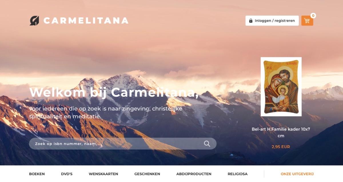 Carmelitana's nieuwe webshop