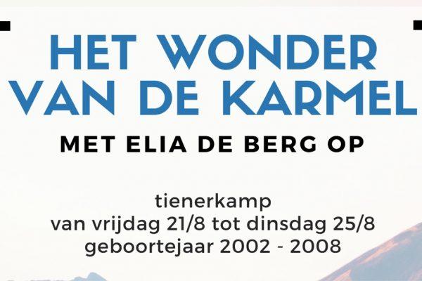 Zomerkamp Jong Karmel 21-25 augustus 2020 // inschrijven tot 1 augustus