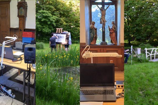Opnamestudio in de sacristie, kunstschool in de kloostertuin